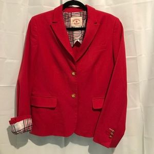 Brooks Brothers Red Cotton Stretch Blazer 8 NWT